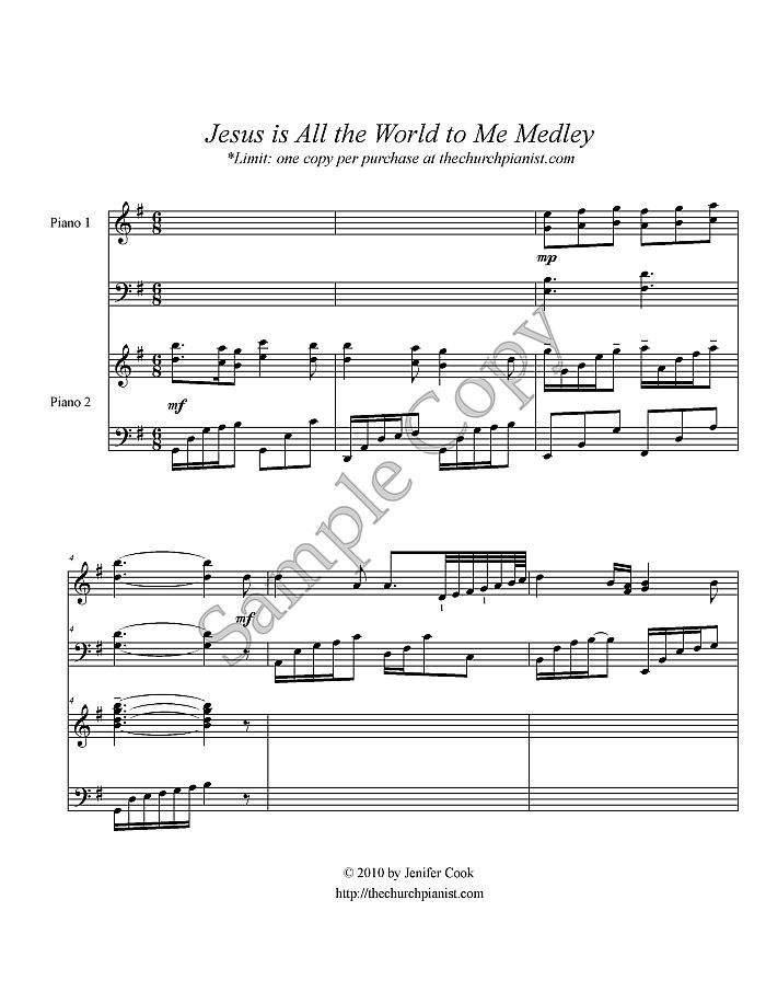 Jesus is All the World to Medley