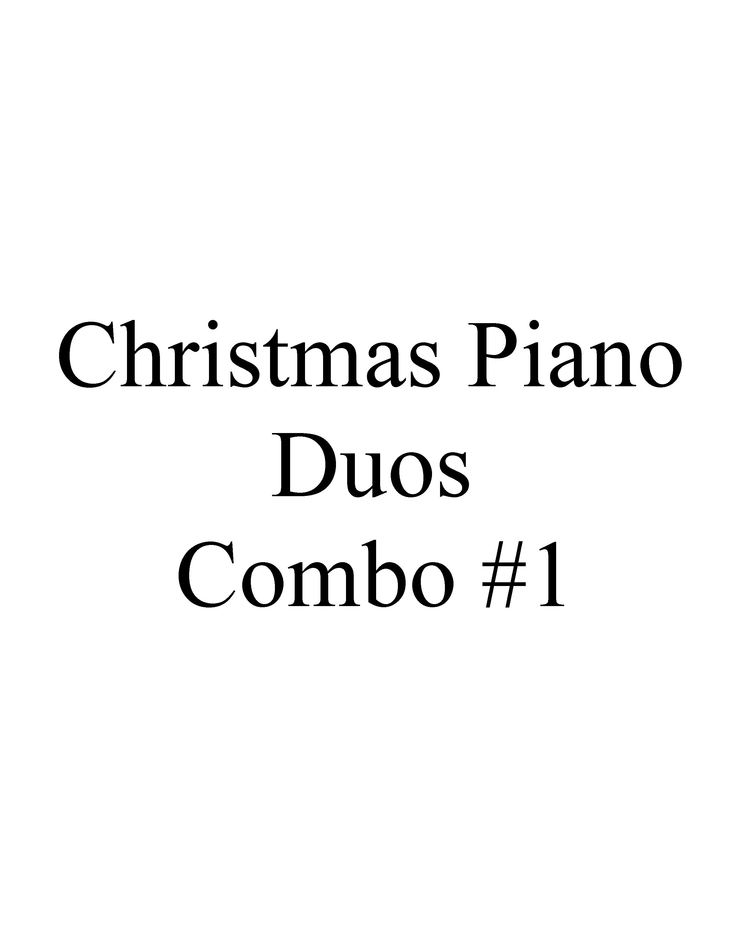 Christmas Piano Duos Combo One