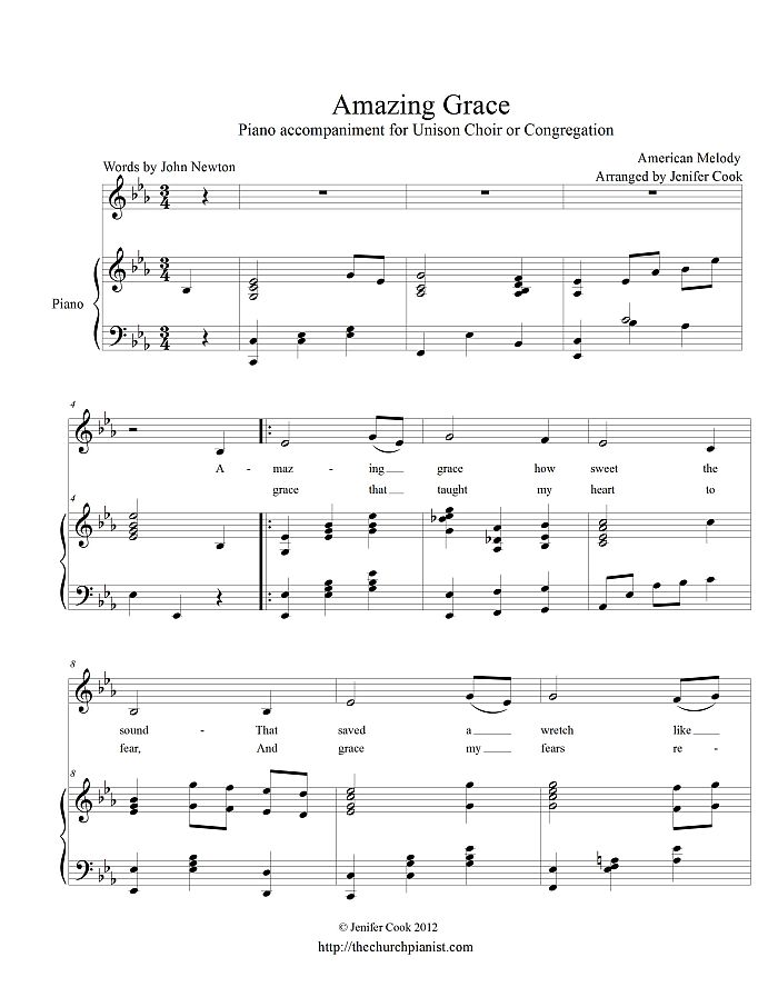Amazing Grace Sheet Music Violin Beginners - amazing grace in g sheet music for voice and ...