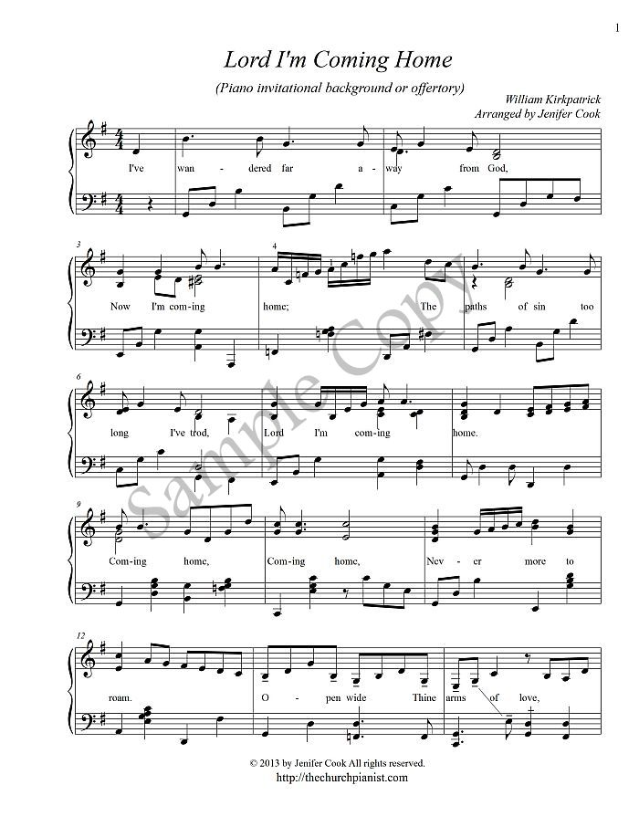 photo about Free Printable God Bless America Sheet Music titled The Church Pianist » Sophisticated Piano Solos