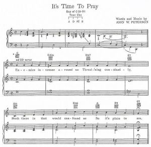 """It's Time to Pray""  vocal solo arrangement"