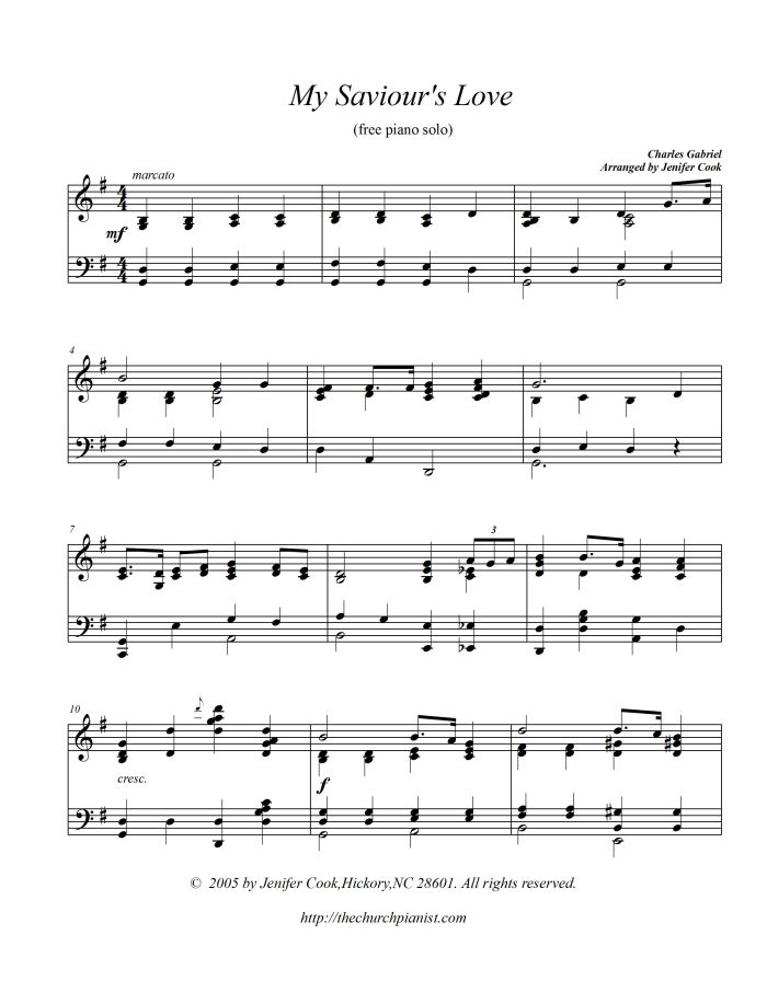 Piano jazz piano sheet music for beginners : The Church Pianist » Free music