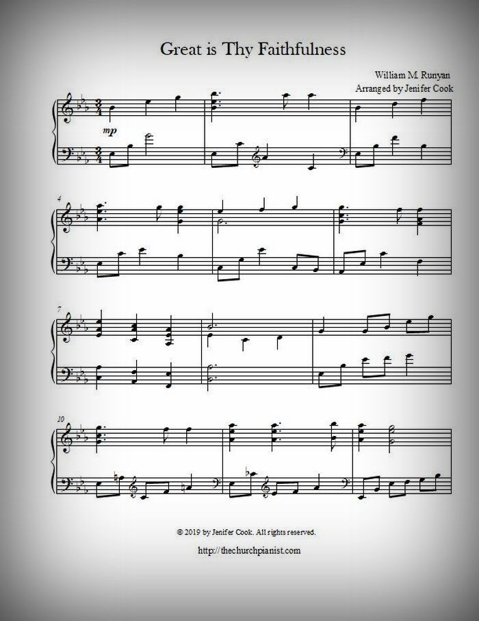 image about Free Printable Christmas Sheet Music for Piano named The Church Pianist