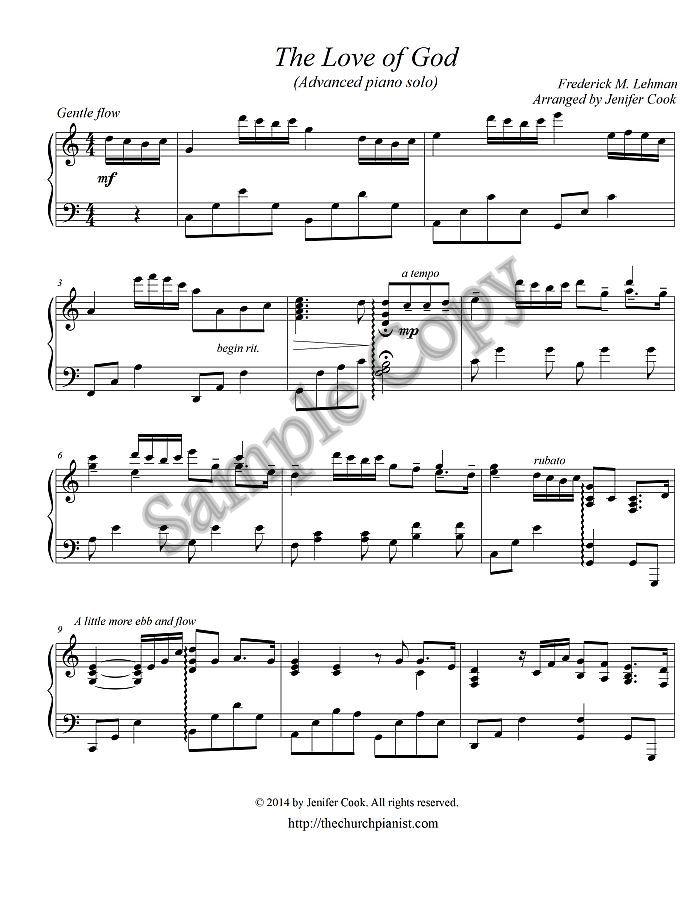 Piano o holy night advanced piano sheet music : The Church Pianist » Advanced Piano Solos