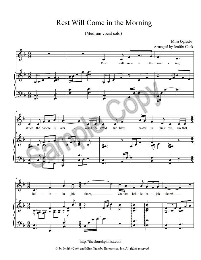 All Music Chords his eye is on the sparrow music sheet : The Church Pianist » Unison