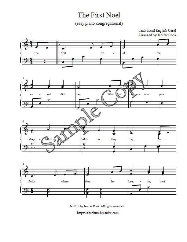 Piano o holy night advanced piano sheet music : The Church Pianist » christmas